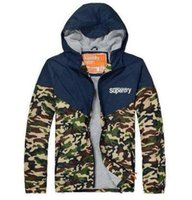 Men apparel pattern - HOT sale Super Dry Camouflage Jackets hoodie clothes hood by air men Outerwear patchwork Winter parka Coats Men s Clothing Apparel mix order