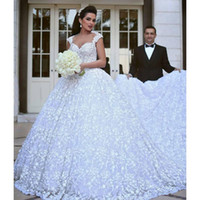 ann summers - Glamorous White Queen Ann Backless Ball Gown Lace Wedding Dresses Beaded Cathedral Train Floor Length Bridal Gowns