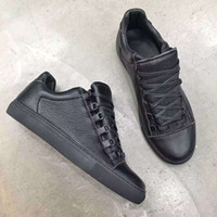 arena box - With Box Arena Full Grain Leather Sneakers Shoes Spikes Mens Flat Casual Sneaker Fashion Outdoors Trainers Walking Dress Party