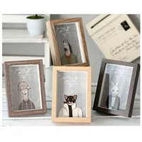 Wholesale Original Wooden Photo Frame Sizes Recentage Style For Photo Wall Decorations