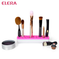 Wholesale ELERA Silicone Makeup brush Organizer Cosmetic Storage Box Magic Makeup Tool Lipstick Organizer Cosmetic Case Colors