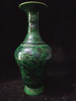 achat en gros de qianlong porcelaine-Antique Collection Art populaire Rare porcelaine chinoise main-peinture poisson fleur vase W Qianlong marque C016