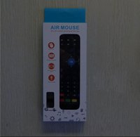 Wholesale MX3 X8 Mini GHz Wireless Gyroscope Keyboard Air Mouse Remote G Sensor Gyroscope For Android TV BOX PC dongle