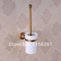 Wholesale European Luxurious Bathroom Accessorie Antique Bronze Toilet Brush Holder Bathroom Products bath hardware High quality HJ F