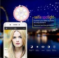 Precio de La iluminación universal,-Recargable Teléfono Selfie Luz LED Fotografía Flash Luz Spotlight Cámara Lámpara con altavoz auxiliar de 3,5 mm Universal para teléfono