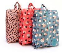 Wholesale Shoe Portable Travel Storage Shoe Dust proof Tote Zipper Dust Bag Waterproof Storage bags Eco Friendly material x8 inch