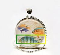 Collar al por mayor de los pescados tropicales hechos a mano, mar del océano