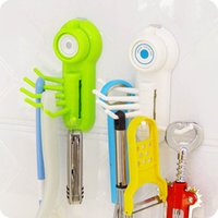 Wholesale Multifunction Vacuum Sucker Claw Hook Storage Tools Reusable Plastic Hooks To Save Space In Bathroom Kitchen Ect