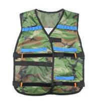 Wholesale Black Nerf Tactical Vest Jacket Waistcoat Ammo Holder N Strike Elite Pistol Bullets Toy Guns Clip Darts for Children Kids