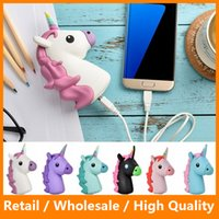 Wholesale 2016 New Portable Emoji Power Bank Battery mAh Charger Unicorn Cartoon USB Mini Power Bank for iPhone Samsung HTC Huawei