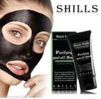 Wholesale Hot Selling ml SHILLS Deep Cleansing purifying peel off Black mud Facail face mask Remove blackhead facial mask Smooth Skin Shills Masks