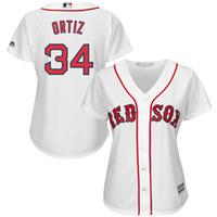 Wholesale 2016 Majestic Boston Red Sox David Ortiz Women s Cool Base Player Jersey Baseball Jerseys