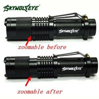 Wholesale High Quality Super Bright CREE XML T6 Tactical Zoomable Lumen LED Flashlight Torch Lamp