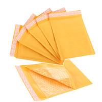 Venta al por mayor-150 * 180 mm Kraft papel burbuja sobres envases Mailers envoltura envasado con burbujas Mailing Bag Negocios suministros
