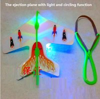 aircraft electronics - Pc Helicopter Flying Toy Amazing LED Light Arrow Plane Party Fun flash Flying Toys the ejection plane kids aircraft model gift