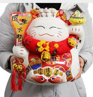 big money banks - big eight party to wealth Lucky Cat inch opening housewarming gift money piggy bank ceramic ornaments