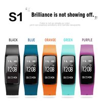 English android gps data - S1 Heart Rate Monitor PC TPU Smart Bracelet Sport Data Record GPS Anti lost Watch for Android Phone iOS