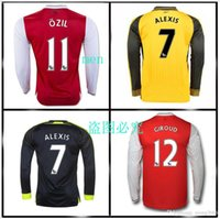 Wholesale best quality Gunners Uniform Home OZIL WILSHERE RAMSEY ALEXIS GIROUD Welbeck Third Arsenals Long sleeve Jerseys With