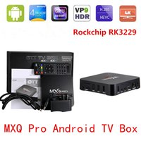 achat en gros de media player vente-2017 Vente chaude Rockchip MXQ-4K Android 5.1 Smart TV Box Quad Core Streaming Media Player Kodi 16.1 entièrement chargé WiFi HDMI DLNA pris en charge