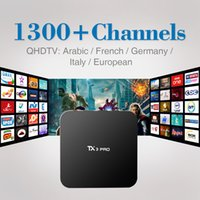 1GB 8GB Black 4K Android 6.0 Smart TV Box Amlogic S905X Quad Core 4K H.265 WiFi IPTV Media Player with 1Year Free Qhdtv IPTV Channels Europe French Italy