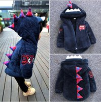 Wholesale New Arrivals INS Baby KIDS Clothing Outerwear Coat Little Dinosaur Animals winter warm boy girl coat