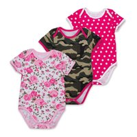 Wholesale New Baby Girls Floral Print Rompers Hot Newborn Birthday Cotton Jumpsuit Y Infant Polka Dot Bodysuit Children Outfits Clothes K037