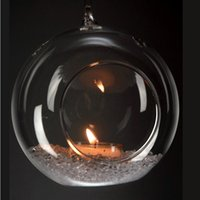 Wholesale Hanging Glass Candle Holders for Home Decor Glass Globe Candle Holder for Wedding Decor