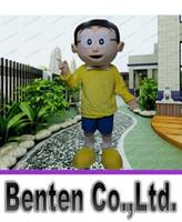 big boy costumes - Nobita mascot costume Nobi Boy Mascot Costume Mascotte Spadger Doraemon Lad Adult With Big Glasses Smiling Face LLFA