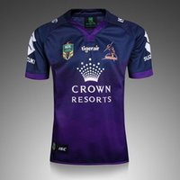 Wholesale High Quality Melbourne Rugby Jersey O Neck Short Sleeve NRL Rugby Jerseys Men Shirts Euro Size S XL