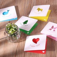 Wholesale South Korea creative color stereoscopic folding hollow out holiday wishes CARDS little CARDS blank card customization
