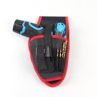 Wholesale V V lithium drill pockets Cordless drill bag electricians tool kit portable tool kit only one bag NO drill