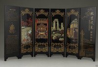 beijing painting - CHINESE OLD LACQUER HANDWORK PAINTING BEIJING SCENERY SCREEN DECORATION