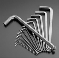 allen wrench tool set - 2016 New set High Toughness Matte Chrome Ball End Hex Allen Key Wrench Spanner Set Inch to Inch Hand Tools