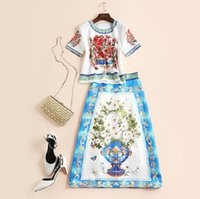 Two Piece Dress baroque shorts - The new Europe and the United States women s spring The runway looks totem baroque temperament skirt suit
