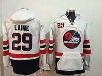 Wholesale Mens Winnipeg Jets Laine Byfuglien Scheifele White Hockey Hoodie New Style Sweater Jerseys