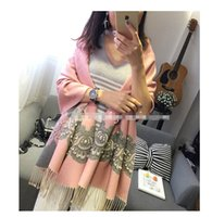 Wholesale Eleven Story lady Scarves lace spring autumn fall pearls shawls LDAS R