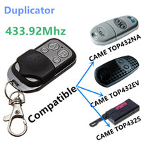 battery garage door - Duplicator Copy Mhz CAME remote control TOP432EV TOP432NA TOP432S With Battery For Universal Garage Door Gate Key Fob
