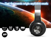Wholesale Blue string HT head wearing Bluetooth Headset stereo wired headset support app Bass headset with a microphone