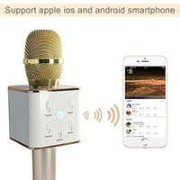 Wholesale Fitow Listen to lai Q7 mobile karaoke treasure palm artifact sing KTV star microphone bluetooth wireless microphone by Fitow