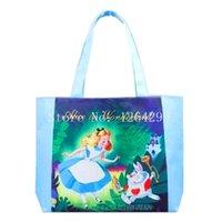 Plain alice bag - New Fashion Alice in Wonderland Woman Cartoon Eco Portable Shopping Bags Girls Handbag