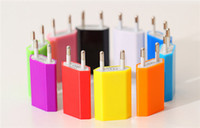 Wholesale Colorful EU US Plug USB Wall Charger AC Best Power Adapter Home Charger for iphone Samsung Galaxy