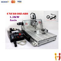 Wholesale CNC Z S80 axis cnc router with KW VFD spindle for engraving hard material CNC engraving machine