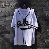 Wholesale TIM VAN STEENBERGE Biggie Smalls Bad Boy Baseball Jersey Movie Stitched Sewn White