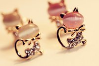 Wholesale new hot selling star top quality girls women earrings animals cute fashion garnet diamond