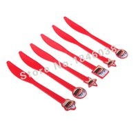Wholesale pack Cars Theme Party Plastic Knife Birthday Nice goods Party Decroation Supplies