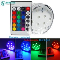 Wholesale Waterproof IP68 Led Submersible Underwater Light Multi color AAA Battery Operated Flower Shape By Key Remote Control
