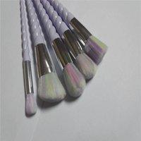 Wholesale New Unicorn Thread Makeup Brushes Professional Make Up Fiber Brush Set Makeup Tools Eyebrow Eyeliner Powder Cosmetics rainbow Brushes