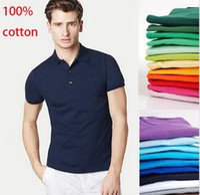 Wholesale plus size XS XL men s fashion polos shirt men short sleeve shirt mens brand shirt Quick drying T shirt cotton free ship