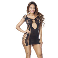 babydoll stocking - 1PC Sexy Womens Mesh Sexy Lingerie Sheer Open Crotch Body Stocking Bodysuit Underwear Babydoll Chemise Sleepwear Lingerie