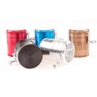 Wholesale pepper grinders herb metal ginder mm layer tobacco grinder for smoking colors aluminum alloy cnc teeth colorful grinders fit dry herb